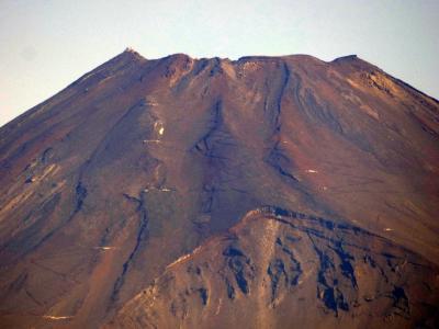 晩夏の朝の三島の散歩道 晩夏の富士山