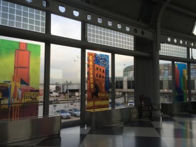 シカゴオヘア空港を散策
