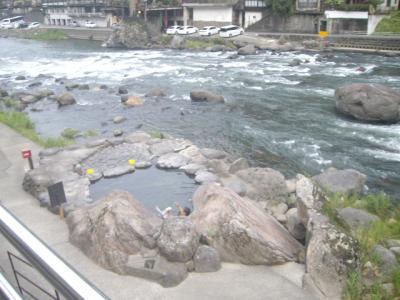 天ケ瀬温泉をぶらりと歩き、桜滝でマイナスイオンを浴びる