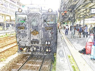 2016年 9月 楽しい列車の旅「はやとの風(鹿児島中央11:40発→嘉例川14:06着)」