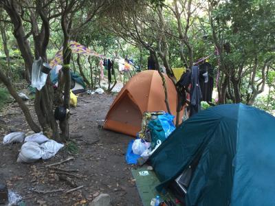 式根島 サバイバル キャンプ 其の三