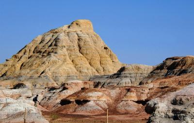 2013年中国新疆放浪記093・烏魯木齊北部、准噶爾盆地の彩り