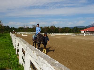 蒜山高原で乗馬