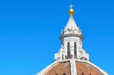 In bocca al lupo! / Forza! イタリア!⑤上ろう、ジョットの鐘楼&クーポラ、よく晴れたフィレンツェの街で。