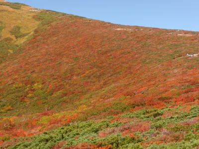 紅葉真っ盛りの栗駒山登山と須川高原温泉自炊湯治の旅3泊4日 その1中央コース登山編