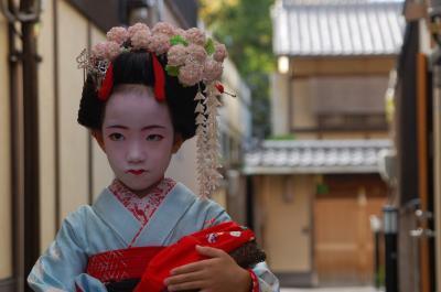 京都で七五三(舞妓さん)1