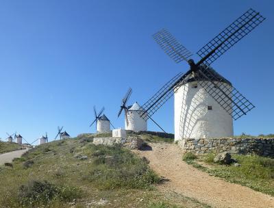 スペイン ラ・マンチャの白い風車