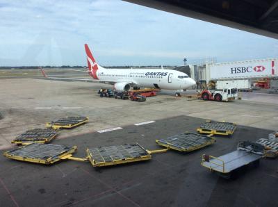 Qantasで行くぜ!クライストチャーチ→シドニー→東京 part1