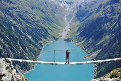 2016年夏(7)チロルFügen滞在 OlpererhutteへGO!~憧れのつり橋から絶景を見る