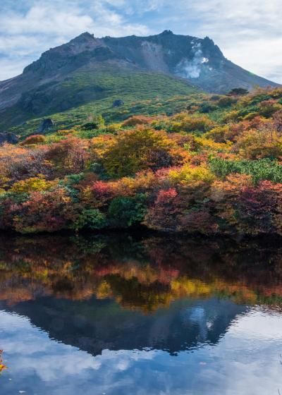 身近な紅葉スポット、茶臼岳姥ケ平へ3年連続して出かける