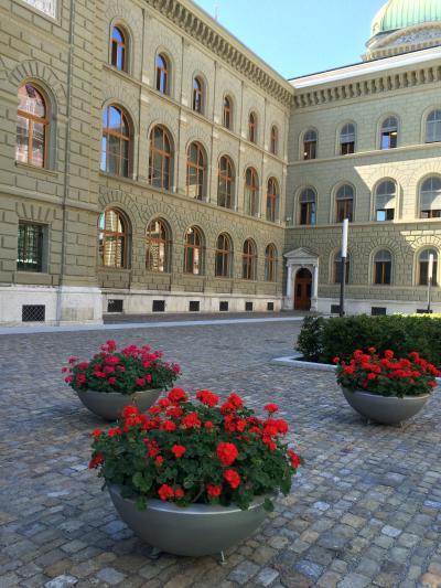 いつかある日ではおそい!スイスへGO!vol.6 ベルンの花は赤いゼラニウム♪ 試練の始まりのベルン(・・;)