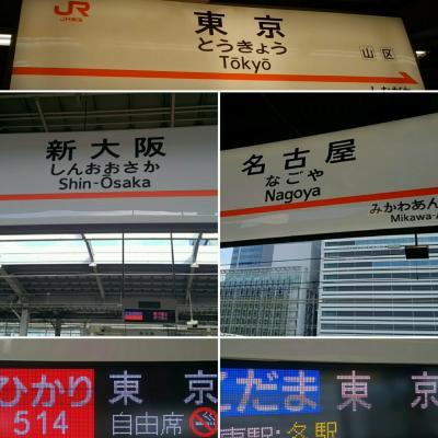 東京で会議 往路は東海道新幹線・各駅停車で上京