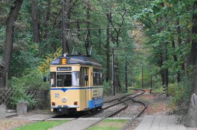 森の中を走るトラム Woltersdorfer Strassenbahn