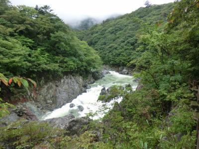 母とのんびり湯治旅・その2.湯西川温泉と龍王峡散策。