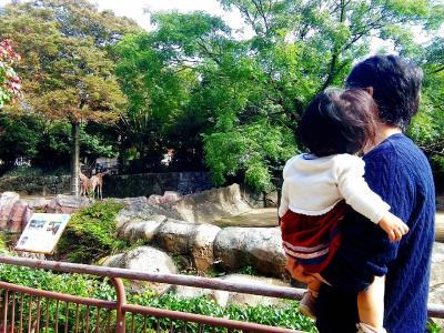 1歳2ヶ月の娘と行く☆★金沢動物園・朝からINで人混みと無縁!!ゾウさんにこんにちは(*^─^*)ニコッ