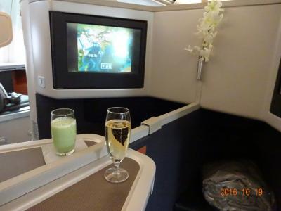 キャセイパシフィック航空ビジネスクラスで行くドバイ★まずは出発から到着編。NRT→HKG CX501便、HKG→DXB CX731便