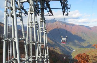 奥利根の紅葉・・藤原ダム、奈良俣ダムと谷川岳ロープウェイ、天神平をめぐります。