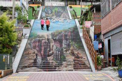 2016_台湾の旅 《三義》 6-1 [建中國小3D彩繪階梯、三義木雕博物館]