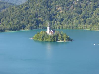 本当に絵はがきみたいな風景!~16年夏スロベニアなど4カ国周遊8月7日その2ブレッド