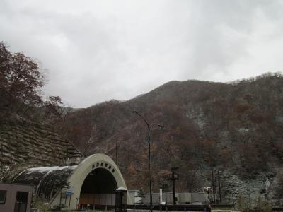 天馬街道の最高標高地点あたりは、雪景色/紅葉景色でした