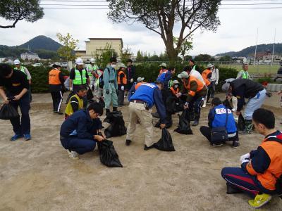 2016年10月31日(月) 鳥取県倉吉中部地震 災害ボランティア参加・倉吉市内の被災状況