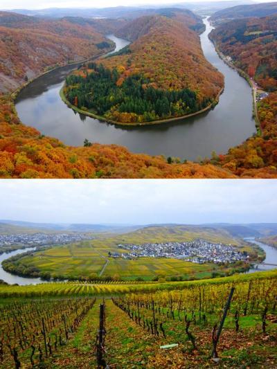 ドイツ、晩秋の大蛇行