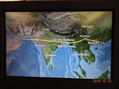 キャセイパシフィック航空ビジネスクラスで行くドバイ★帰国編 DXB→HKG CX0738便、HKG→NRT CX0500便