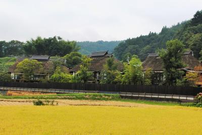 秋の川場村へ その3 念願の宿「かやぶきの源泉湯宿悠湯里庵」にチェックイン。