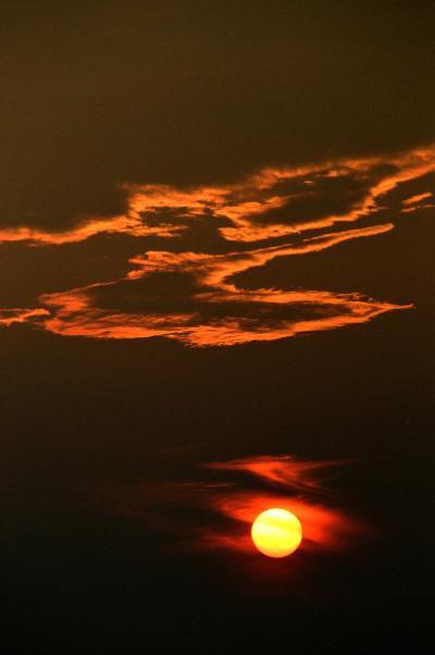 琵琶湖の夕日と有馬温泉