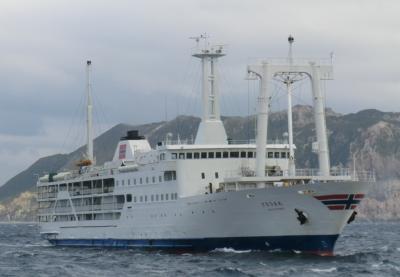 島に行きたい!伊豆諸島.式根島・その4.東海汽船.さるびあ丸乗船記(式根島~東京竹芝)。