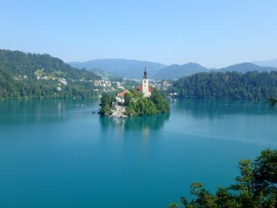 スロベニア ② ブレッド湖・プレジャマ城・ポストイナ