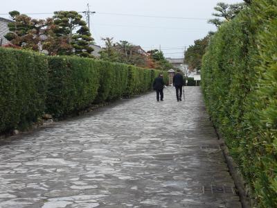 御城番屋敷。こんなすばらしい街並が松阪にはある。歴史を大事にする町です。