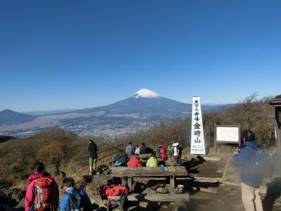 箱根仙石原に宿泊して、その1 金時山に登りました。