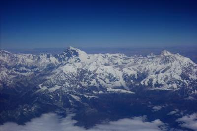 感動!ポロポロ 涙がとまりません、ネパールカトマンズへの旅 その1 中国国際航空でカトマンズへ ヒマラヤ俯瞰