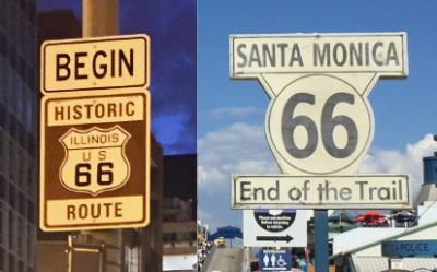 シカゴからサンタモニカへの道