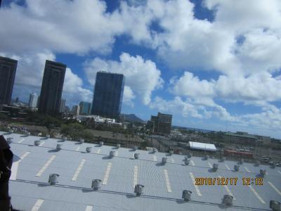 Pride of America・ハワイ四島クルーズ:Honolulu湾出港  乗船から船室