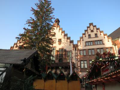 フランクフルトと周辺のたび(4) 再びフランクフルト(クラインマルクトハレ、大聖堂、ゲーテハウス、スカイライン・プラザ、ガレリア、レーマー広場とクリスマス市)