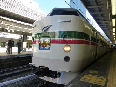 2016年12月、189系臨時特急かいじ195号乗車記