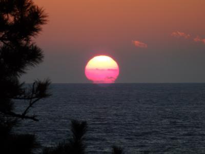 2017年 堂ヶ島の夕日と世界遺産 韮山反射炉