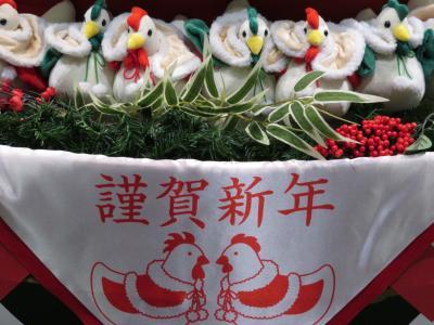 新春2017年酉年の東京国際フォーラム恒例の干支クリスマスツリーが干支飾りに早変わり