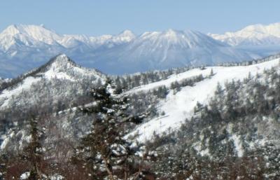 草津温泉へ その1 今シーズン初のスキーは草津国際スキー場へ。雪は少ないけど天気に恵まれました。