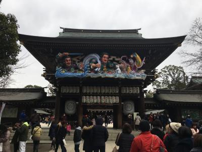謹賀新年 2017年初詣は8日にも関わらず結構な人出の寒川神社へ