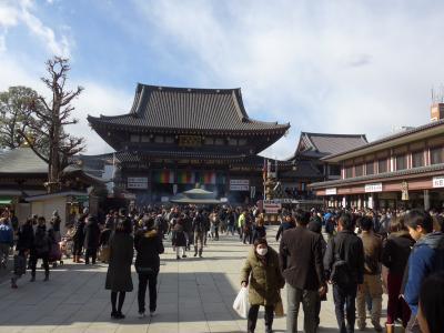 川崎大師に往復10Kmを徒歩で初詣!!