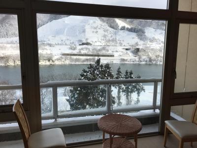 新潟冬景色 阿賀野 望川閣