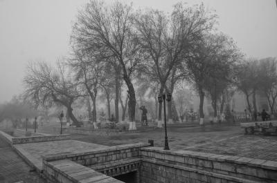 古都ブハラを彷徨う(濃霧の日)