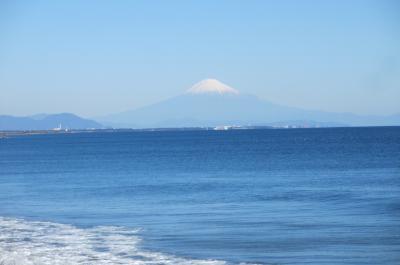 旅ラン 駿河湾から見た富士山と武田信玄が遠江をおさえる拠点とした小山城