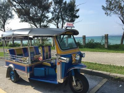 沖縄・恩納村で新しい遊び!トゥクトゥクに乗った♪♪