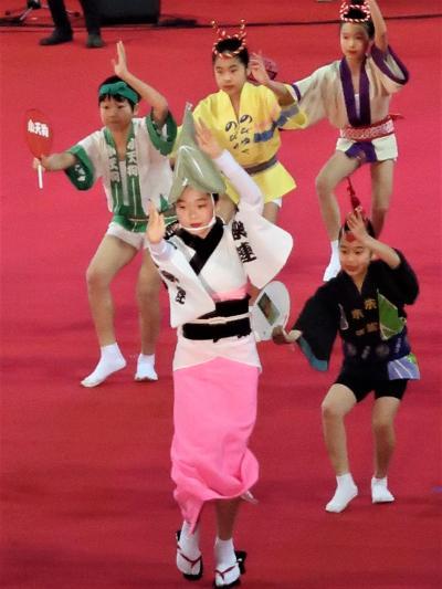 ふるさと祭り東京-5 高円寺阿波おどり 本場徳島に次ぐ規模 ☆活気漲る ステージ全員で