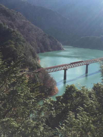 2017年年始めの旅は寸又峡へ1ー湖上にある駅に降りる