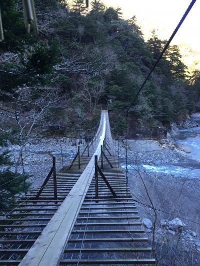 2017年年始めの旅は寸又峡へ2-夢の吊り橋を渡る